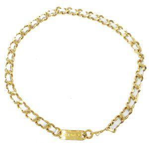CHANEL CC Logos Charm Gold Chain Belt Accessories